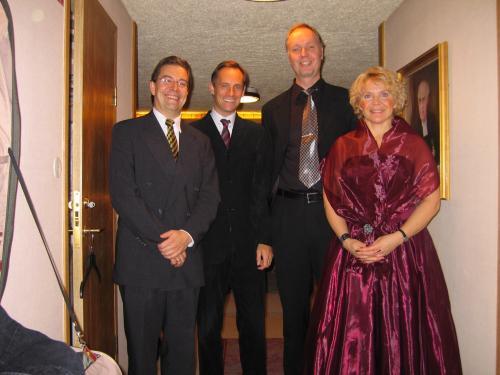 "Carl U-S, Mikael Bellini, Lars Arvidsson, Eva Plumppu in ""Messiah"""