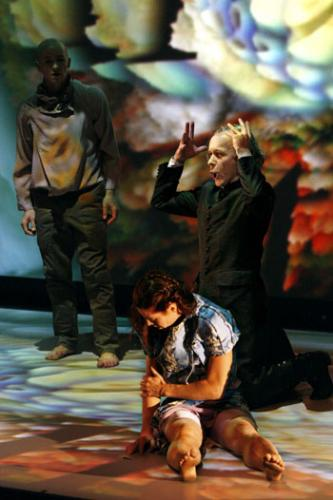 "Jan Vesala, Claudine Ulrich and JohnErik Eleby in ""The Garden of Love"""